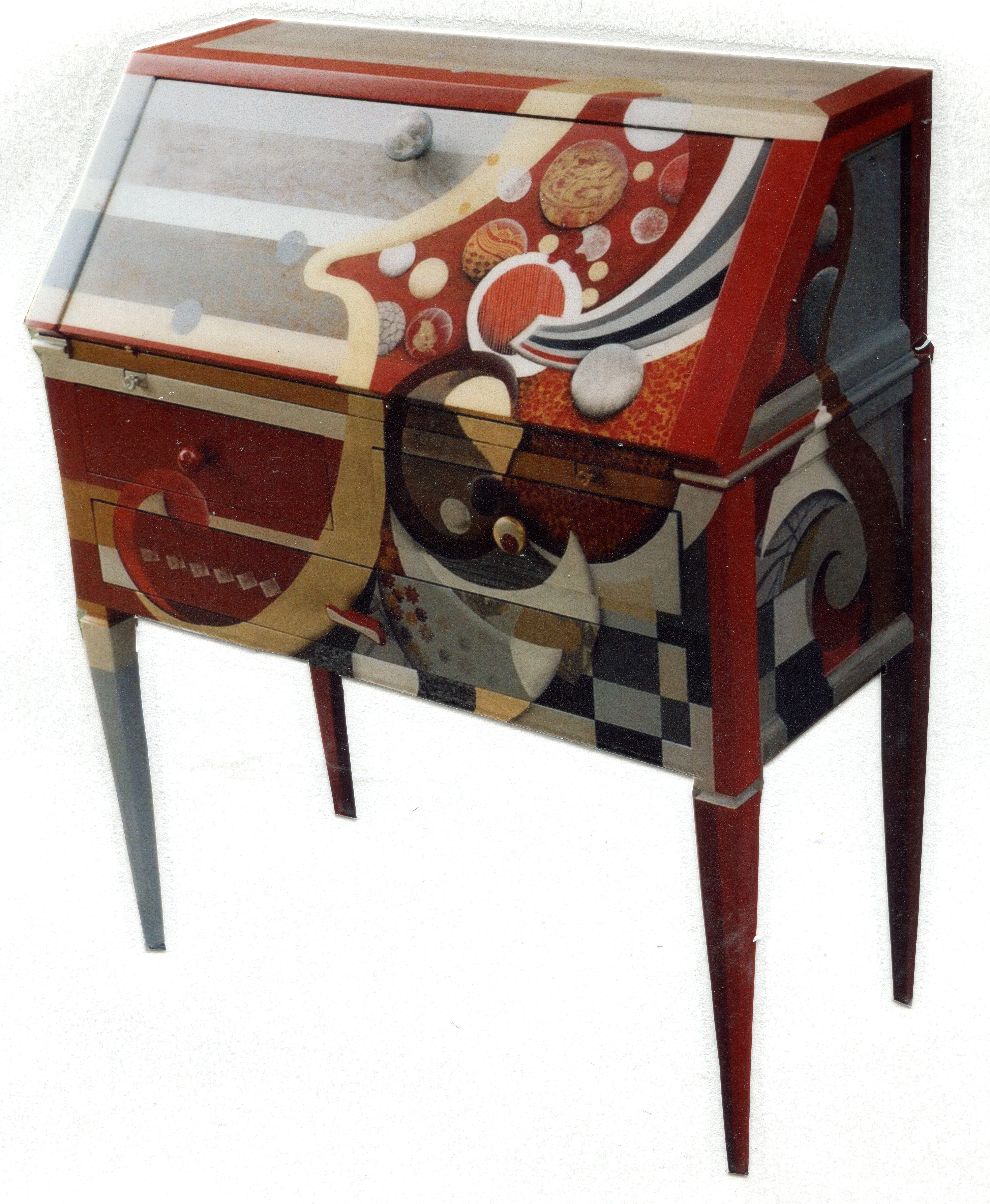 meubles peints chantal bonnefoy. Black Bedroom Furniture Sets. Home Design Ideas